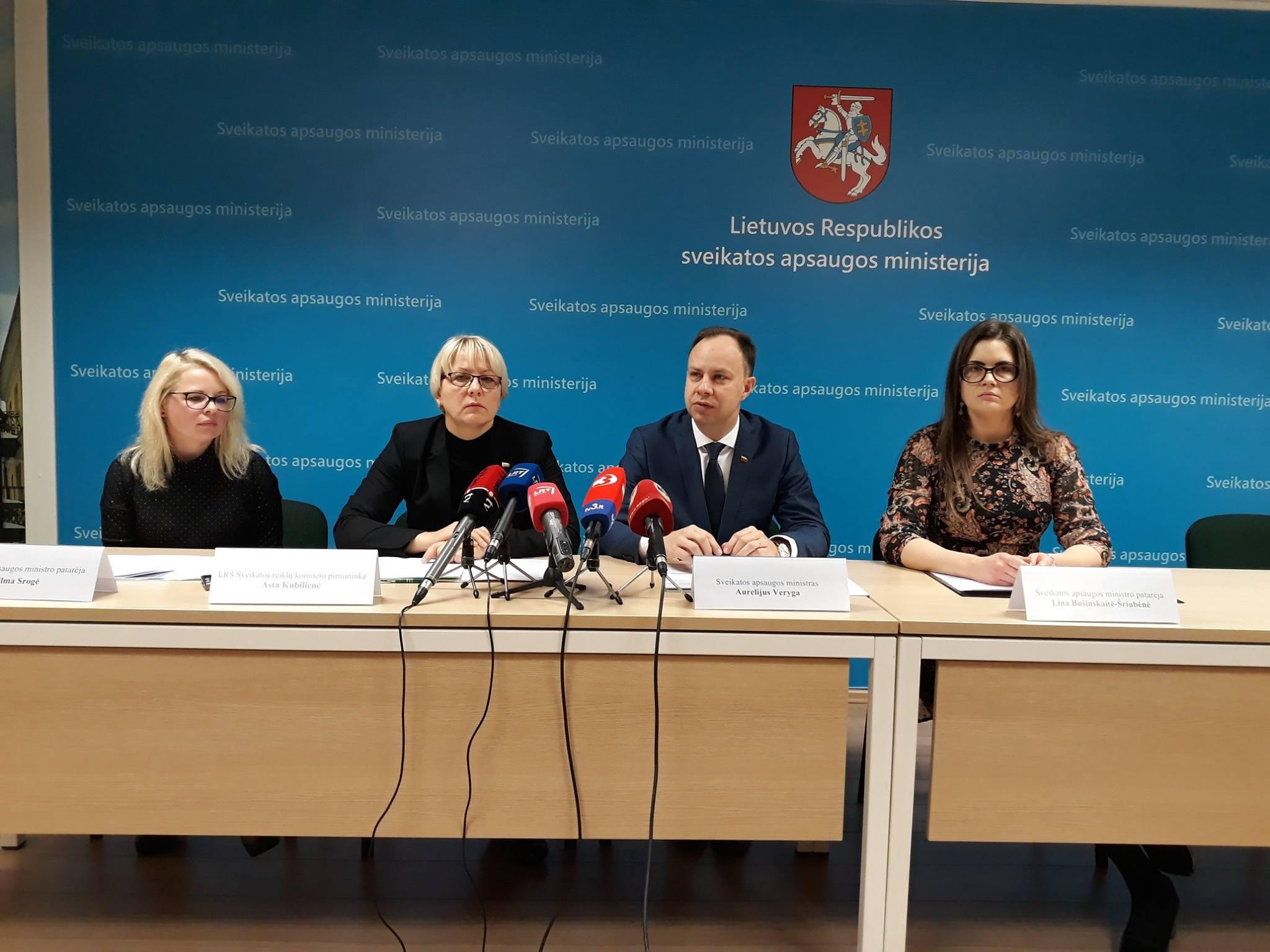 Dalyvavimas spaudos konferencijoje pristatant sveikatos sistemos reformos projektus