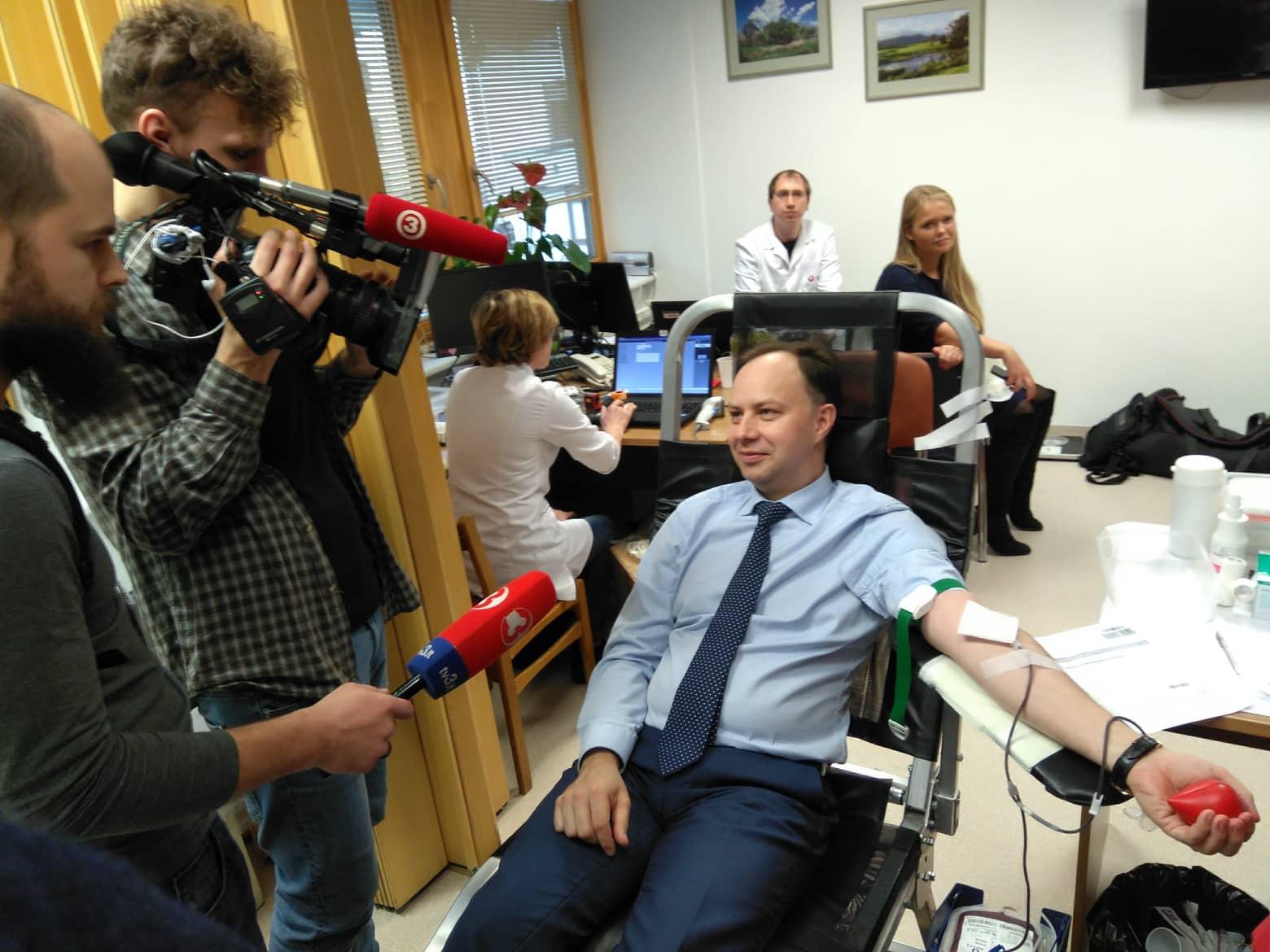 Kraujo donorystės akcija Seime