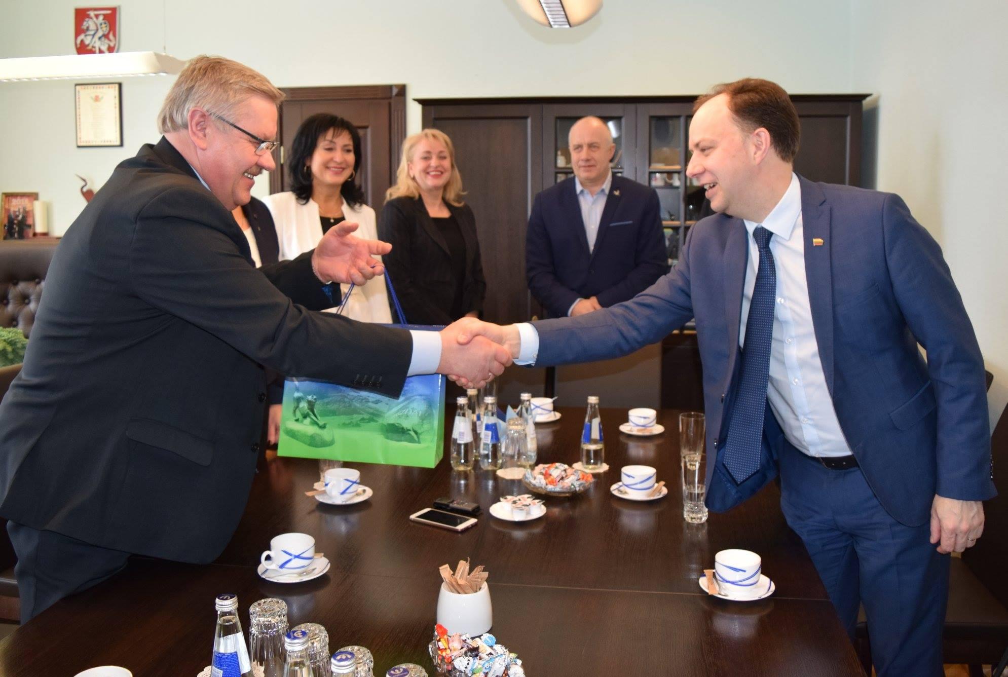 Vizitas į Klaipėdos rajono savivaldybę